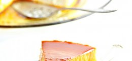 Flan de queso casero