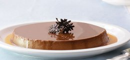 Flan de queso y chocolate