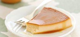 Flan de queso y piña